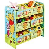 TW24 Aufbewahrungsregal - Spielzeugkiste - Spielzeugtruhe - Disney Regal 6 Boxen mit Motivauswahl (Winnie The Pooh)