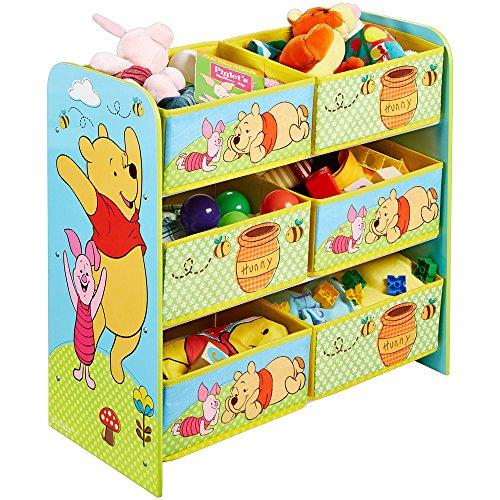 gal - Spielzeugkiste - Spielzeugtruhe - Disney Regal 6 Boxen mit Motivauswahl (Winnie The Pooh) ()