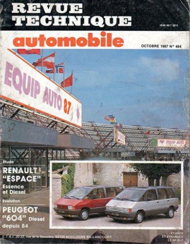 REVUE TECHNIQUE AUTOMOBILE N° 484 RENAULT ESPACE ESSENCE 2000 GTS / 2000 TSE ET DIESEL TURBO D / TURBO DX / 2000-1 par E.T.A.I.