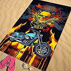 Regalitostv Day of The Dead* Toalla Playa Grande 95 X 175 CM Tacto Terciopelo 100% ALGODÓN (360g) (Born Bad 213)
