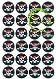 ', Piraten'№2 24 Muffinaufleger, Tortenaufleger,Geburtstag,Tortendeko,