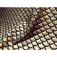 Tela con diseño de balanza de sirena y balanza de pescado - Material elástico de 2