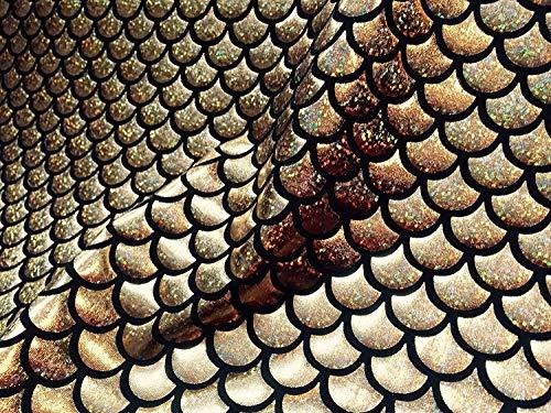 Stoffwaage mit Meerjungfrauen-Muster, 2-Wege-Stretch-Material, Lycra-Spandex, 150 cm breit, (Kostüm Lycra Gewebe)