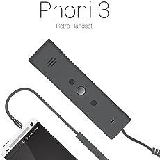 Portronics POR 687 Retro Handset for Phoni 3 (Black)