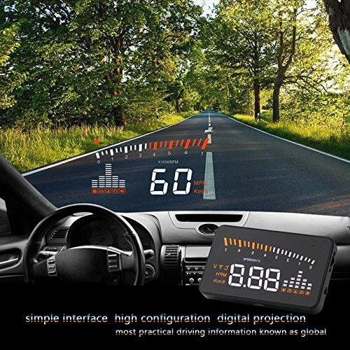 Preisvergleich Produktbild HongliCar OBD Projektor vermeidet Headdown Fahren Computermonitor X5 HUD Auto Head-Up Display