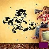 Wandtattoo Wandaufkleber Wandbild Aufkleber Sticker Fussball Waschbär Fussballspieler mit Punkten M1961 ausgewählte Farbe: *lila* ausgewählte Größe: *L - 26cm breit x 36cm hoch*
