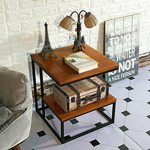 TAZZ-L HWH- Couchtisch, Restaurant Bar Schlafzimmer Wohnzimmer Hotel Tabelle Kleine Runde Tisch Besprechungstisch Dessert Tisch Beistelltisch Größe 45 * 45 * 50 cm Lerntisch (Farbe : B) -