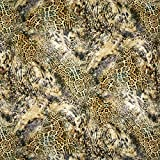 Fabulous Fabrics Viskosejersey Leo digital - Schlamm -