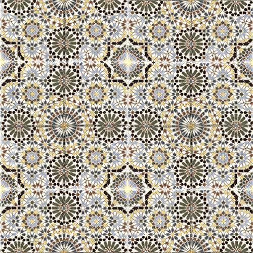 Marokkanische Keramikfliesen Kasbah 20 x 20 cm mehrfarbig orientalische Fliesen Mosaik | Wandfliese für Bad & Küchenrückwand | Schöne Küche Flur & Badezimmer | FL15680