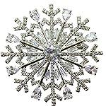 EXKLUSIVE Weihnachtsbrosche Schneeflocke SILVER SNOWFLAKE