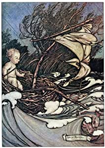 "6"" x 4"" Greetings Card Arthur Rackham Peter Pan in Kensington Gardens (9)"