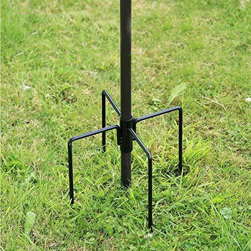 Stabilisator für Wildvögel-Futterstation, für Garten, Outdoor, Vogelfutterhaus, Erdspieße, Ständer in Schwarz