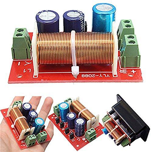 Ajustable Divisor de frecuencia de Graves/Agudos Cruzado de Audio de Altavoces de 2 Vías filtros