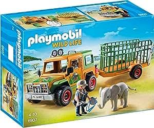 Playmobil 6937 - Jeep dei Rangers con Gabbia di Trasporto, Multicolore