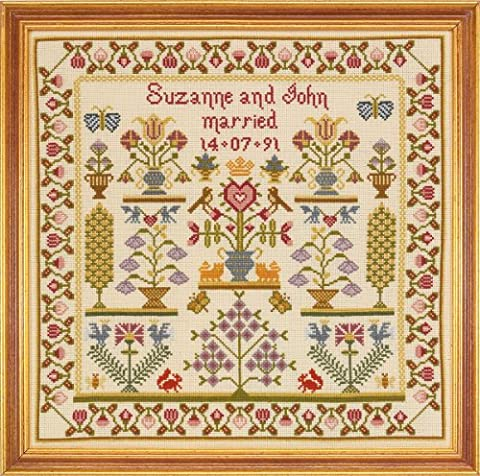 Historical Sampler Co. Wedding Pot Sampler Cross Stitch