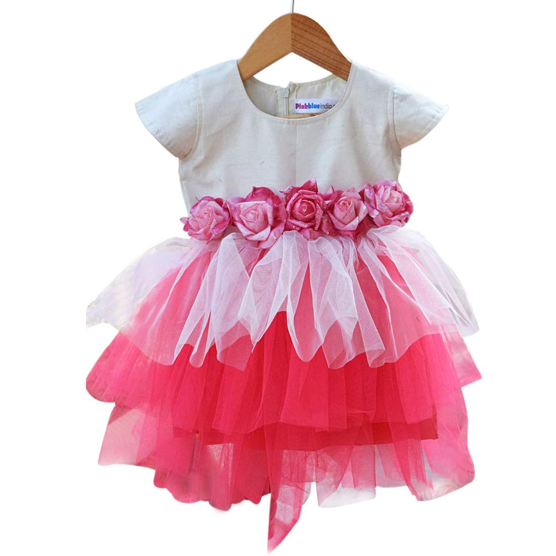 1b795aac9 PinkBlue India Baby Girl Party Wear Frock Kids Birthday Dress Pink ...