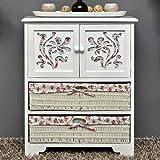 Country House Dresser disimpegno mobiletto del bagno 60 x 73 cm Mensola credenza con legno decorazione intaglio