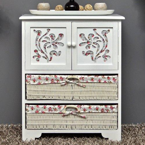 Country House Dresser disimpegno mobiletto del bagno 60 x 73 cm Mensola credenza con legno decorazione intaglio - 2