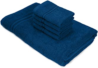 Swiss Republic Towels Set- Essential Plus collection 480 GSM made with 100% ring spun extra soft cotton with quick dry and double stitch line for extra long durability - set of 5 towels with 2 YEARS replacement GUARANTEE.