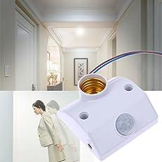 NATSZ YD-810 AC 220v 50/60HZ Human Body Movement Infrared IR Automatic Lamp Holder Switch Intelligent Light Motion Sensing Switch