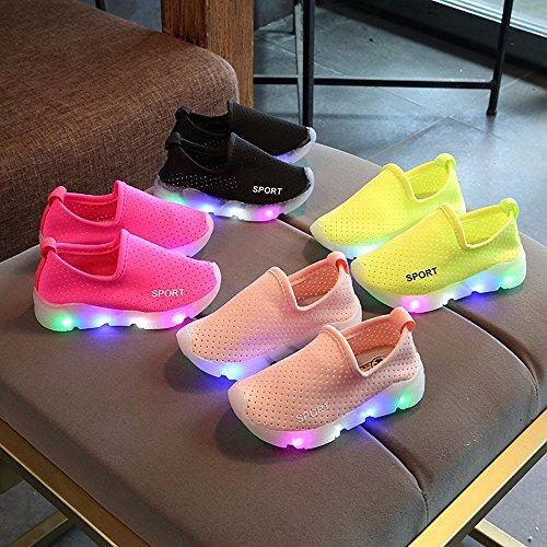 Topgrowth bambini Luminoso Scarpe Sportive Sneakers con Luce Bambino Lampeggiante Sneakers Cavo Traspirante Scarpe bVxfCk