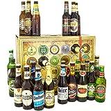 Bieradventskalender Welt und Deutschland mit Leffe + Tiger + Schlappeseppel + mehr ... Ein tolles Geschenk für Männer. Bierset + Geschenk, Biersorten aus aller WELT & DEUTSCHLAND. Bier Adventskalender 2018 - mit 24 Biersorten in FLASCHEN Adventskalender Bier Welt 2018 - Adventskalender für Männer, Adventskalender für Erwachsene, Bierkalender Adventskalender Alkohol, Weihnachtskalender mit Bier, Bier Adventskalender Weihnachtsgeschenke Bier Männer