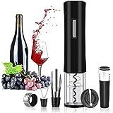 Rovtop Cavatappi Elettrico,Apribottiglie Cavatappi,vino,apribottiglie elettrico,Acciaio inossidabile automatico La bottiglia