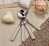 Set 24 posate Acciaio Inox Cuori Beige Angelica Home & Country