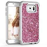 Coque Samsung Galaxy S6, [Glitter de Luxe] Fantaisie Paillette Strass Brillante Bling Bling Anti-Choc Souple Silicone + PC Robuste Durable Meilleur Panneau Étui Housse Pour Samsung Galaxy S6 S VI G9200 GS6