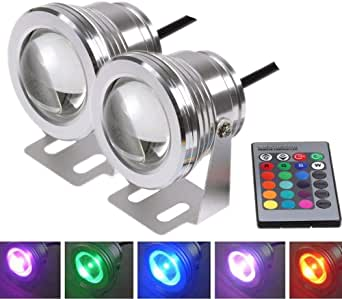 FORNORM Swimming Pool Lights FORNORM 12V Underwater Lights Submersible Led Lights for Inground and Above Ground Pool Pond Aquarium Hot Tub with RGB Remote Controller
