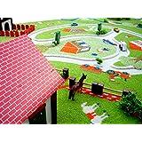 Little Helper Farm Green de 100150de de _ 1Ivi Dicker hipoalergénica 3d de infantil Juego Alfombra