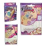 Glitza Transfer Art Kinder großes Tattoo Set 3 Teile mit vielen Vorlagen
