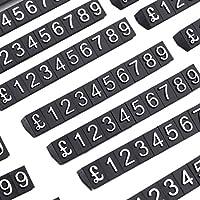 DO4U - Kit de cubos de 1 precio para escaparates (340 cubos, color blanco sobre negro) PCUBK