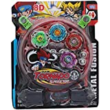 Toykart 4 In 1 Beyblades Metal Fighter Fury With Metal Fight Ring And Stadium - Multi Color