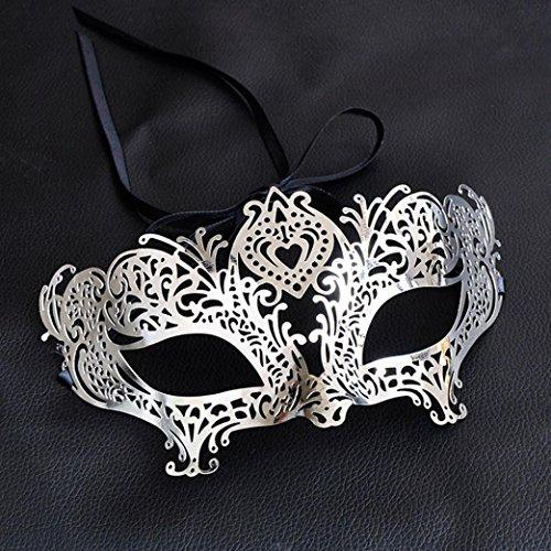 sunnymi Hohle Tanzshow Maske/Schönes Sexy/Metall Venezianische Maskerade Maske/Masquerade Bälle Oper Party Party Mardi Gras Halloween Weihnachten (Maske Venezianische Zeichen)