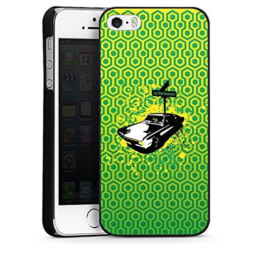 Apple iPhone 5 Housse Étui Silicone Coque Protection Véhicule Oldtimer Rétro CasDur noir