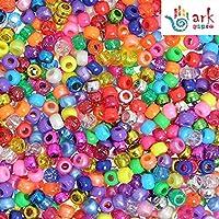 arkCRAFT 4-in-1 Assorted Pearlised/Glitter/Metallic/Bright Pony Beads PK-1000
