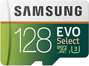 Samsung 128GB 100MB/s (U3) MicroSD EVO Select Memory Card with Adapter (MB-ME128GA/EU)