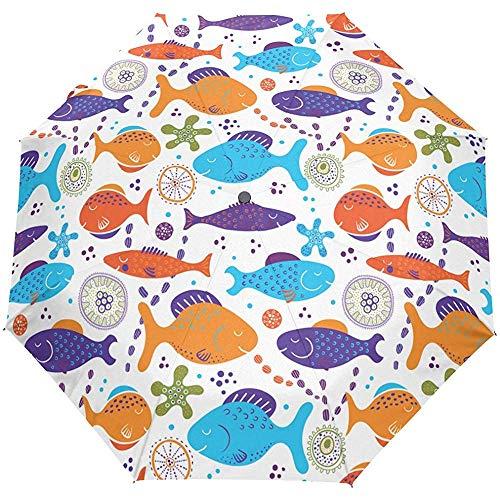 Ozean Meer Wasserwelt Muscheln Seestern Auto Öffnen Schließen Sonne Regen Regenschirm