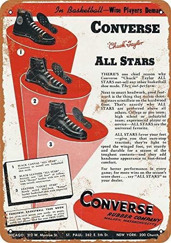 Yohoba 1939 Converse Tennisschuhe Vintage Look 30,5 x 45,7 cm Metallschilder