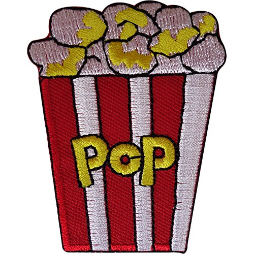 Popcorn Patch Bestickt Abzeichen Eisen Sew On Film Film Lebensmittel Stickerei Applikation -