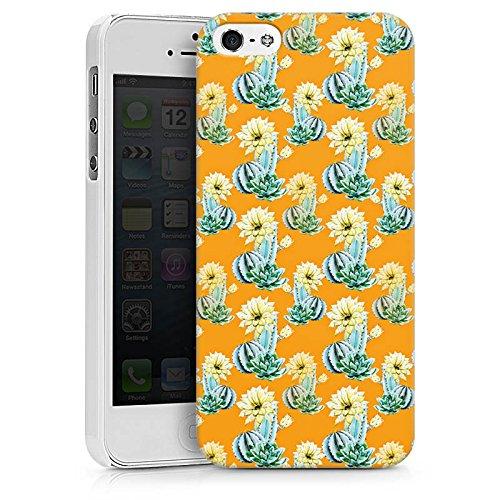 Apple iPhone X Silikon Hülle Case Schutzhülle Kaktus Muster Blume Hard Case weiß
