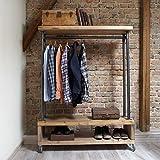 Cosywood Étagère à vêtements style industriel
