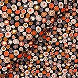Swafing GmbH - Stoff - Jersey Steinbeck dots braun -