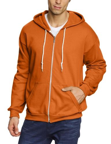 anvil Herren Sweatjacke / 71600, Gr. 58/60 (XXL), Orange (TXO-Texas Orange) (Texas Sweatshirt Crew)