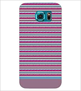 PrintDhaba Tribal pattern D-1933 Back Case Cover for SAMSUNG GALAXY S6 EDGE (Multi-Coloured)