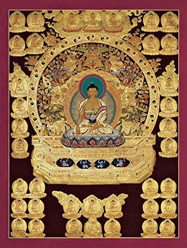 Thangka Druck Kunstdruck Buddha Reproduktion 40x50 cm