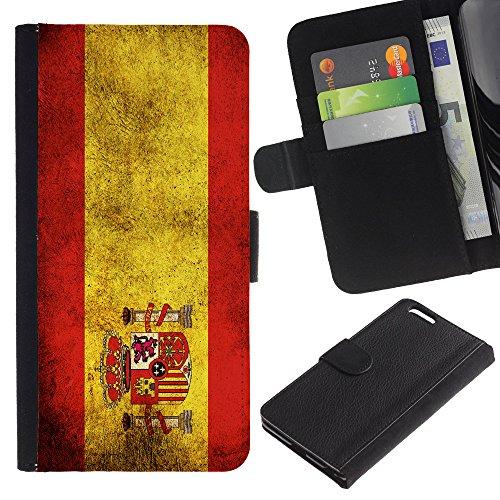 """Graphic4You Vintage Uralt Flagge Von Italien Design Brieftasche Leder Hülle Case Schutzhülle für Apple iPhone 6 Plus / 6S Plus (5.5"""") Spanien Spanisch"""