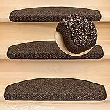 Stufenmatten Vorwerk Lord Halbrund - Fb.003 / Kaffeebraun Set 15 Stück