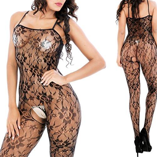 Ctian Damen Unterwäschen, Erotik Dessous Set Reizvolle Strapsen Reizwäsche Transparent Spitze Lingerie Unterwäsche Bodysuit Nachtwäsche Dessous (Dessous-abend)